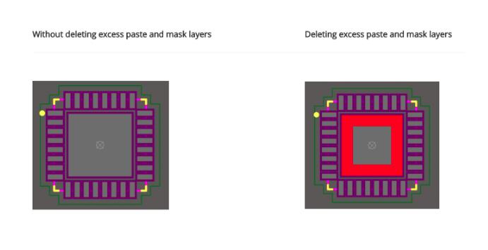Tutorial: Removing excess solder mask and solder paste added