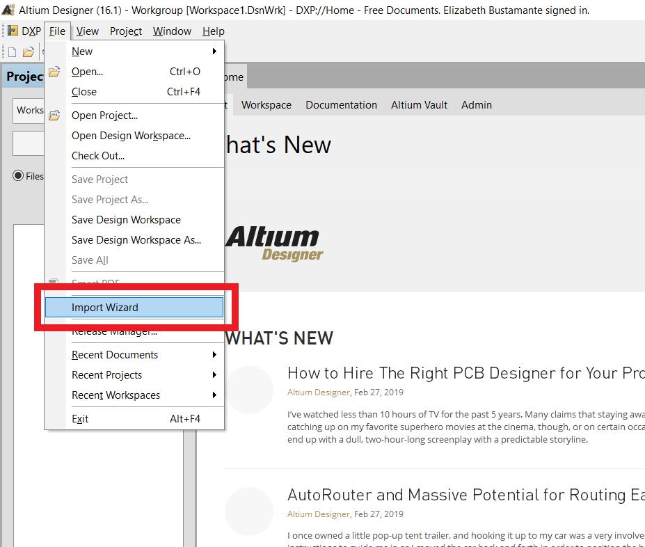 How To Install The P Cad Importer In Altium Designer Snapeda Blog